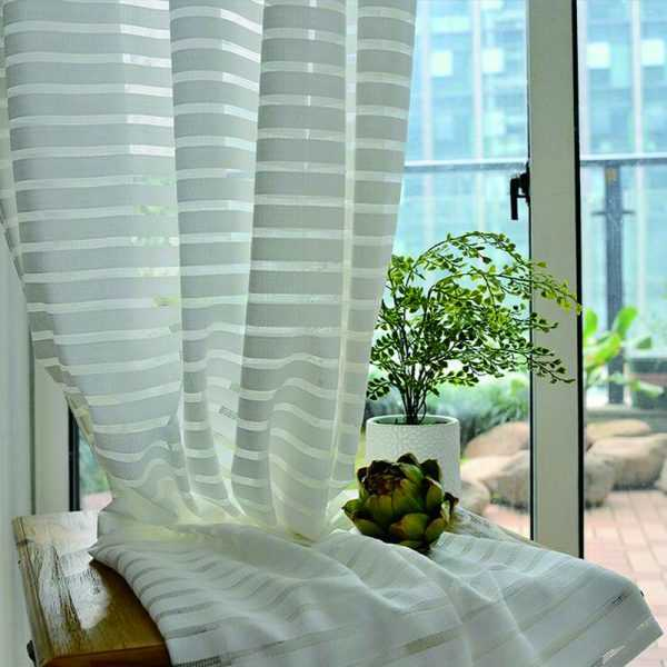 Stripe Cotton Curtains for Bedroom