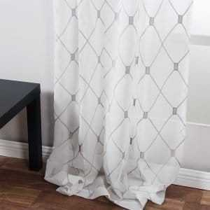 Embroidered Curtains with Geometric Pattern