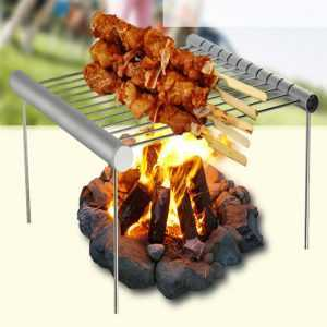 Mini Portable Folding Stainless Steel BBQ Grill