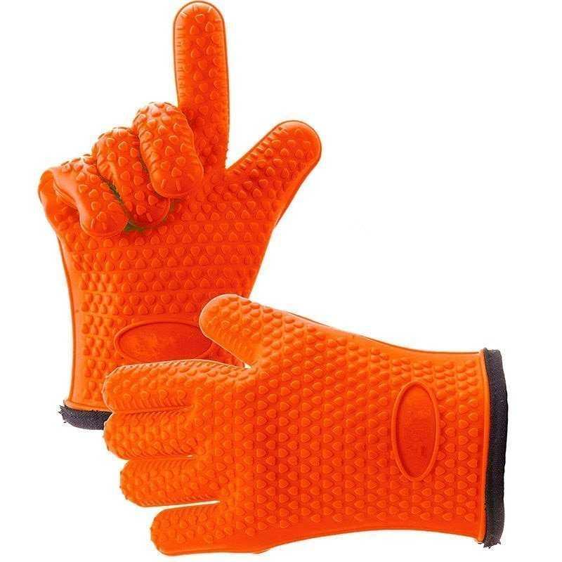 Heat-Resistant Non-Slip Silicone BBQ Gloves
