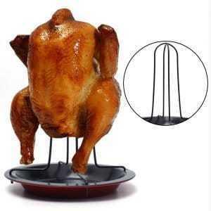 Carbon Steel BBQ Barbecue Chicken Roaster Rack Set
