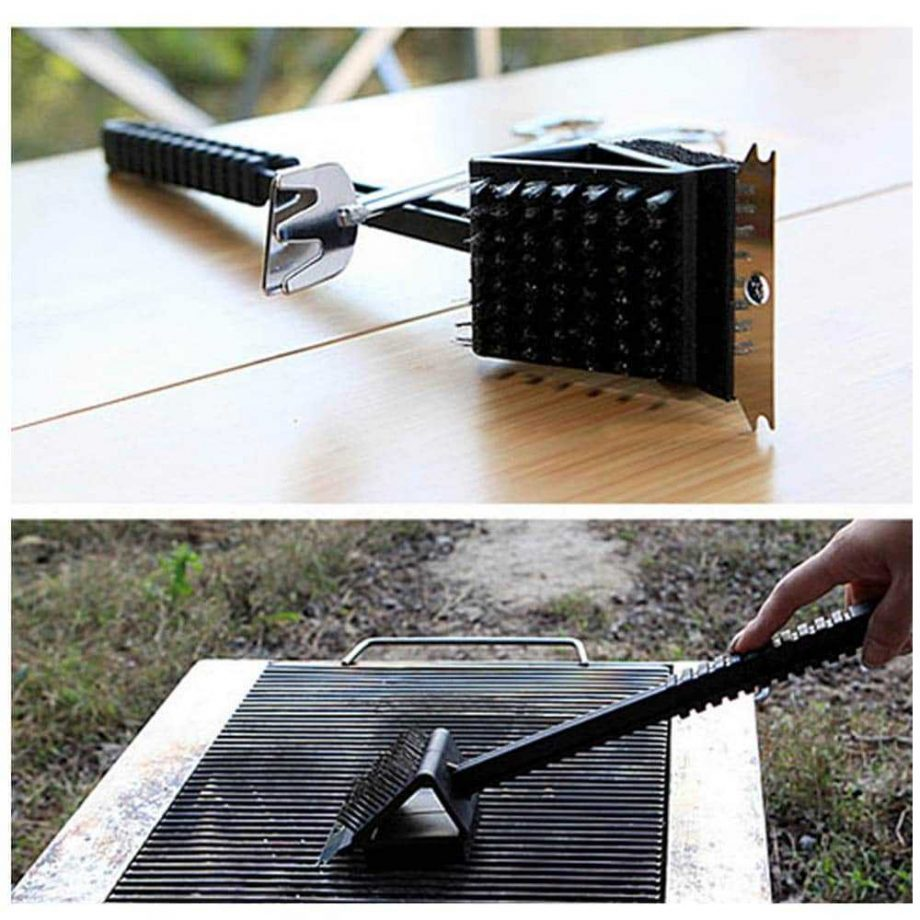 3 in 1 Long Handle Grill Brush