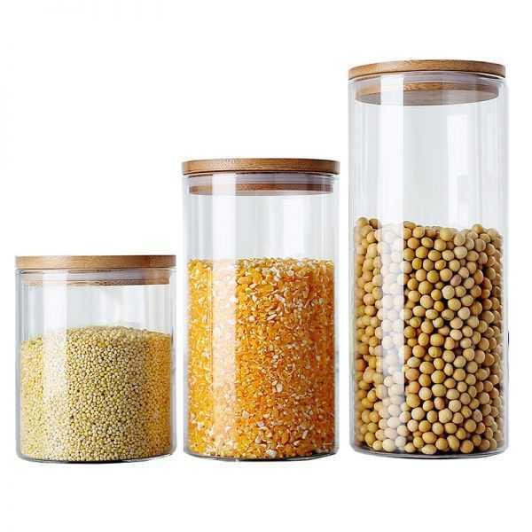 Vacuum Glass Storage Jars for Kitchen