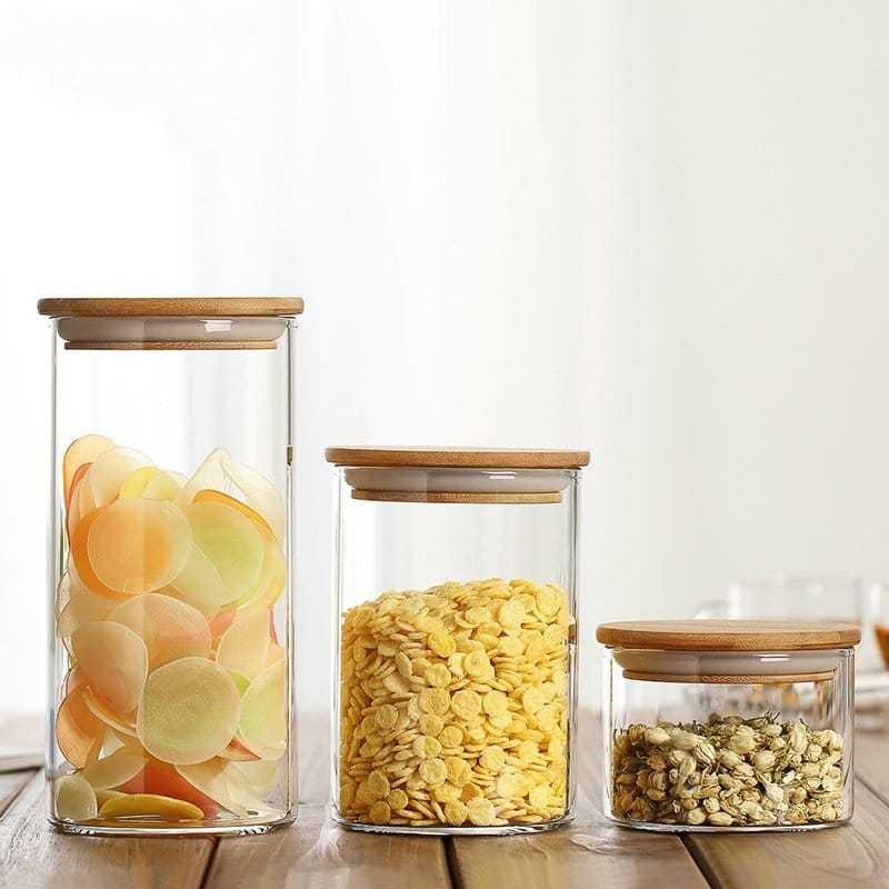 Vacuum Glass Storage Jars for Kitchen