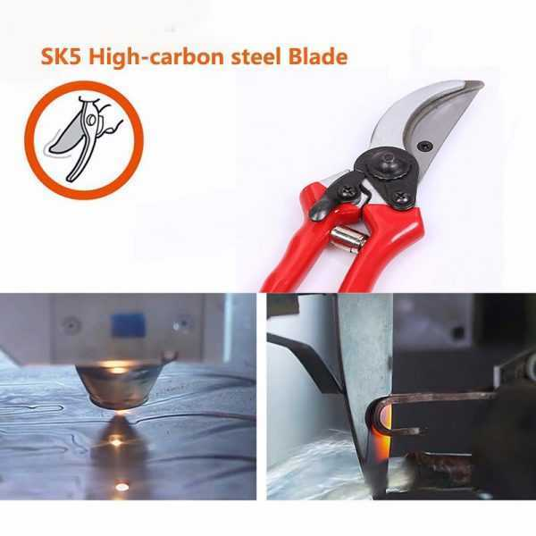 Folding Carbon Steel Garden Pruning Shears