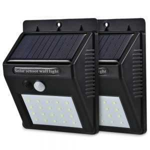 Solar Power PIR LED Wall Garden Light