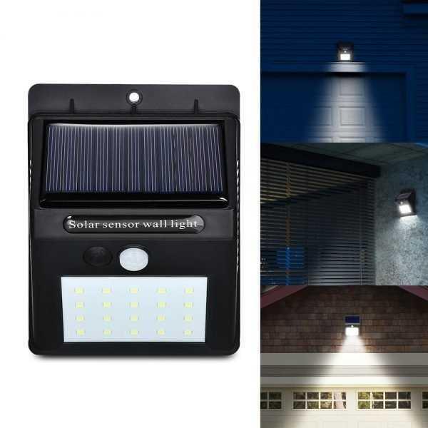 Solar Power PIR LED Wall Garden Light