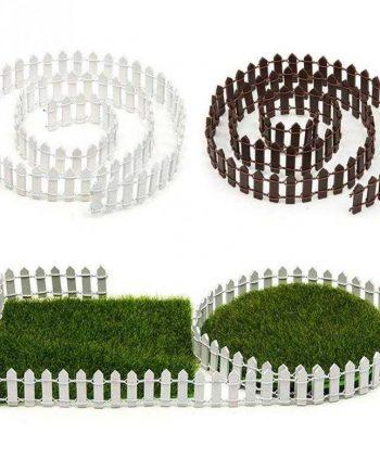 Wood And Iron Mini Garden Fences