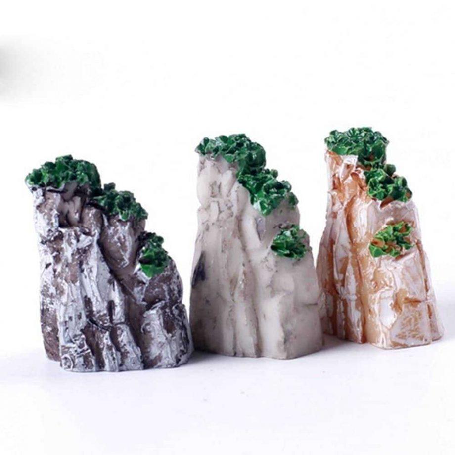 Cute Natural Resin Mini Mountain Miniature for Home Decoration