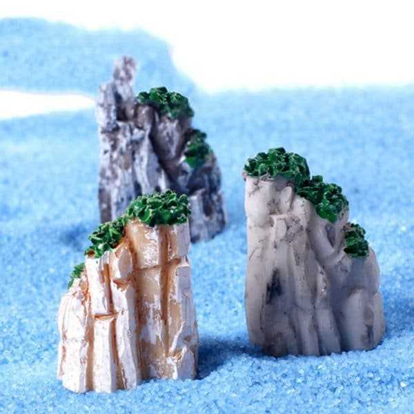 Cute Natural Resin Mini Mountain Miniature for Home Decoration