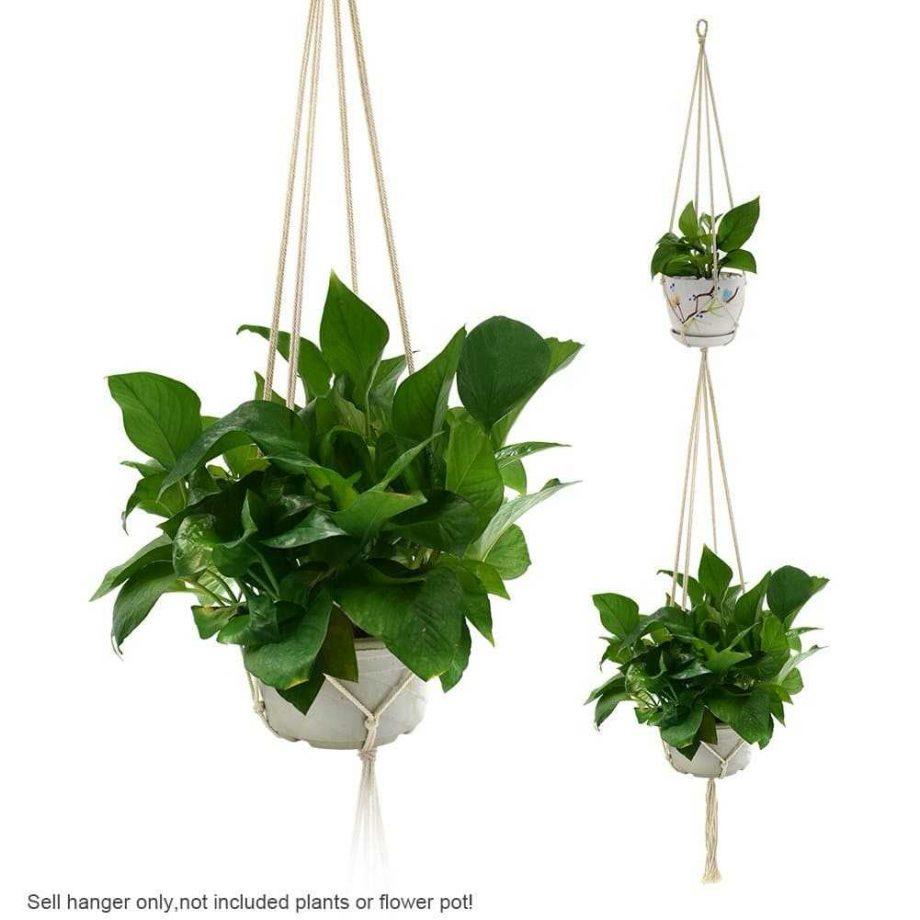 Retro Plant Hanger with 4 Ropes