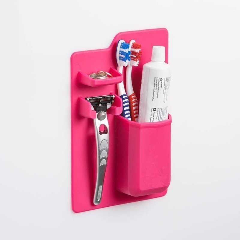 Self-Adhesive Bathroom Storage Toothbrush Holder