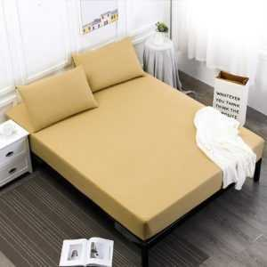 Solid Color Waterproof Mattress Cover