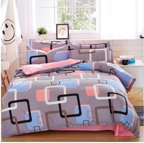 Colorful Geometric Pattern Cotton Bedding Set