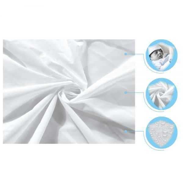 Waterproof Hypoallergenic Solid Color Mattress Cover