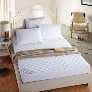 Elastic White Mattress Cover