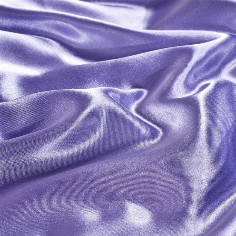 Solid Color Faux Silk Bedding Set