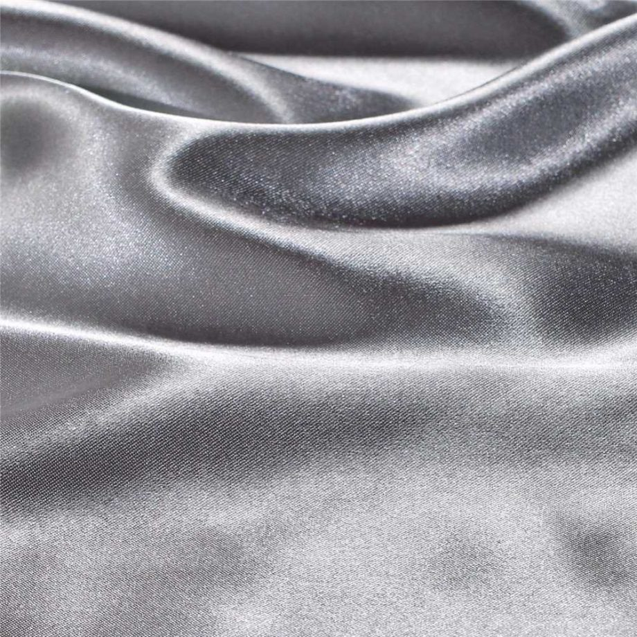 Solid Color Faux Silk Bedding Set