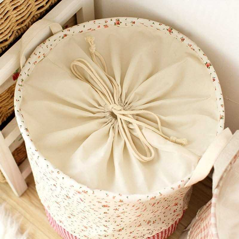 Linen Multifunctional Laundry Storage Barrel