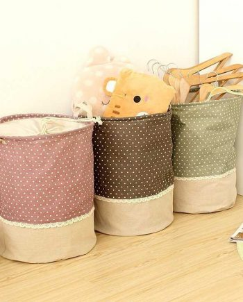 Linen Multifunctional Laundry Storage Barrel