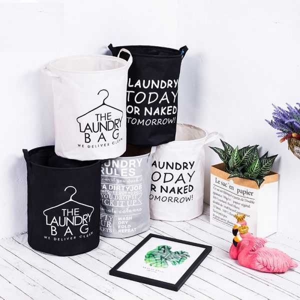 Waterproof Foldable Cotton Laundry Basket