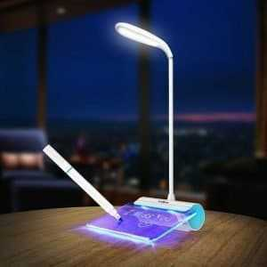 Rechargeable LED Lamp with Message Board