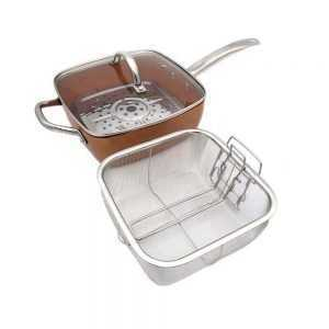 Non-Stick Aluminum Alloy Square Pan with Cooking Tools
