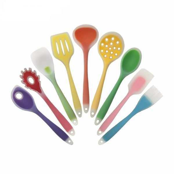 Eco-Friendly Colorful Silicone Kitchen Cooking Utensils