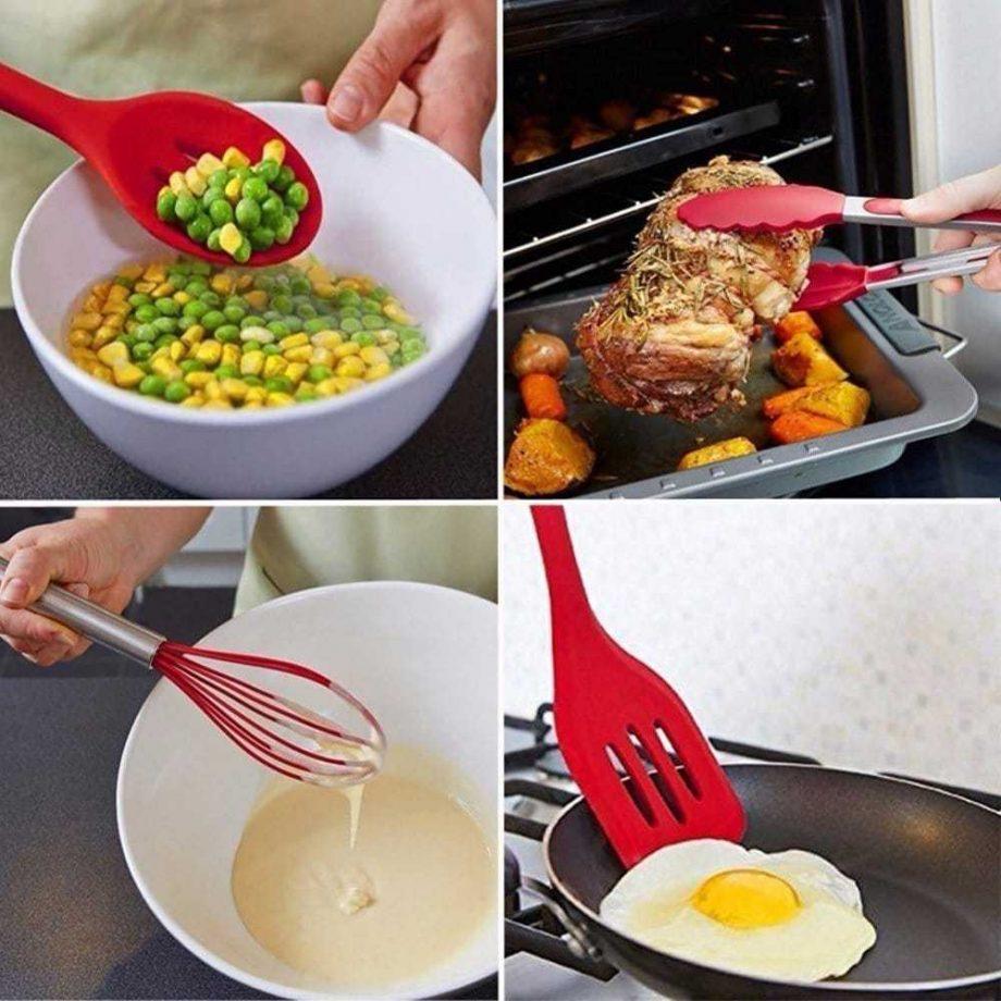 Food Grade Silicone Kitchen Utensils Sets