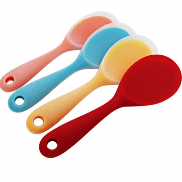 Heat-Resistant Eco-Friendly Silicone Rice Spoon