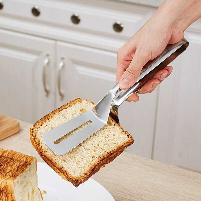 Handy Multifunctional Heat-Resistant Non-Stick Stainless Steel Kitchen Tongs