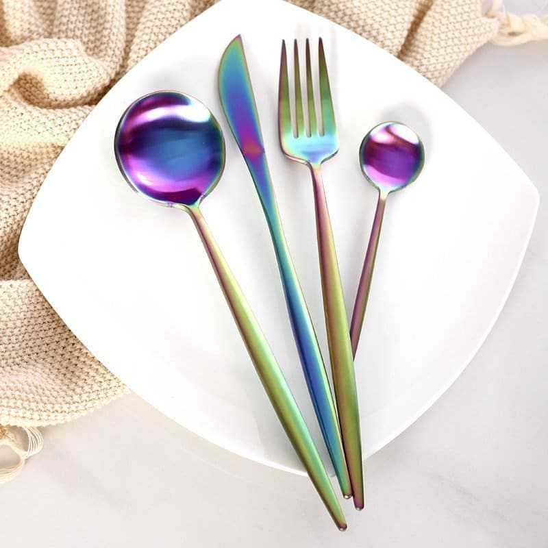Colorful Stainless Steel Dinnerware Sets