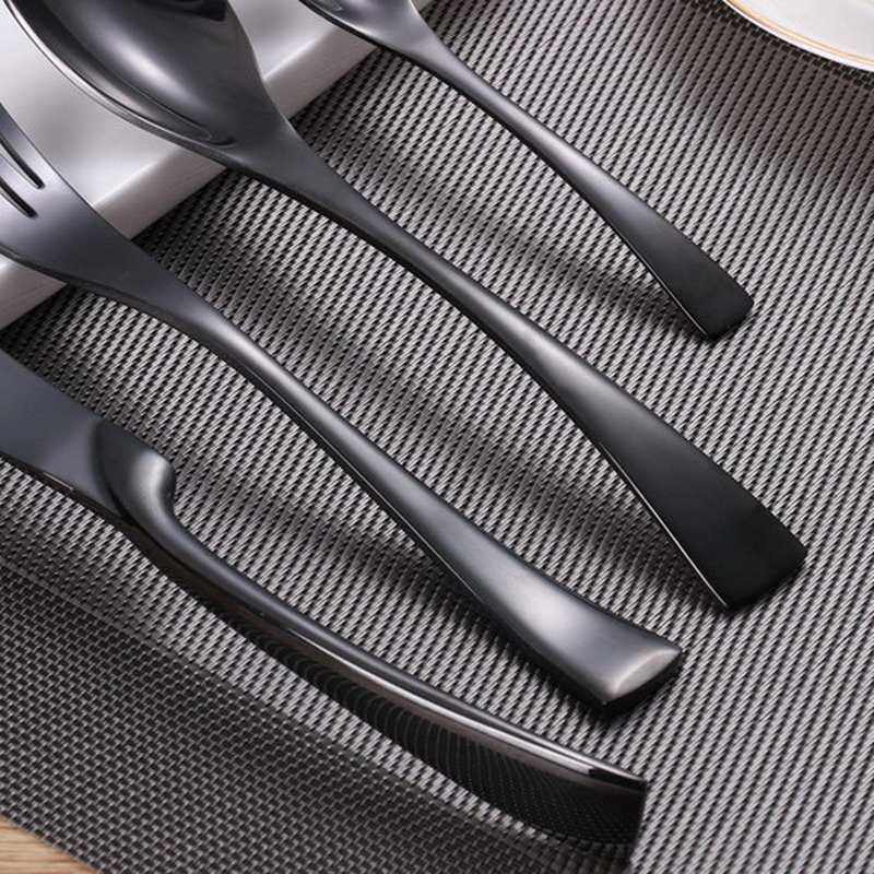 Black Color Stainless Steel Dinnerware Sets