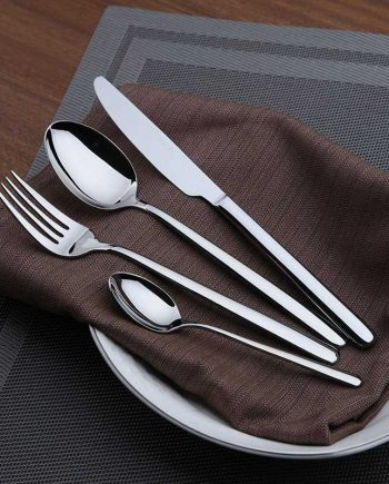 Silver Stainless Steel Flatware Set
