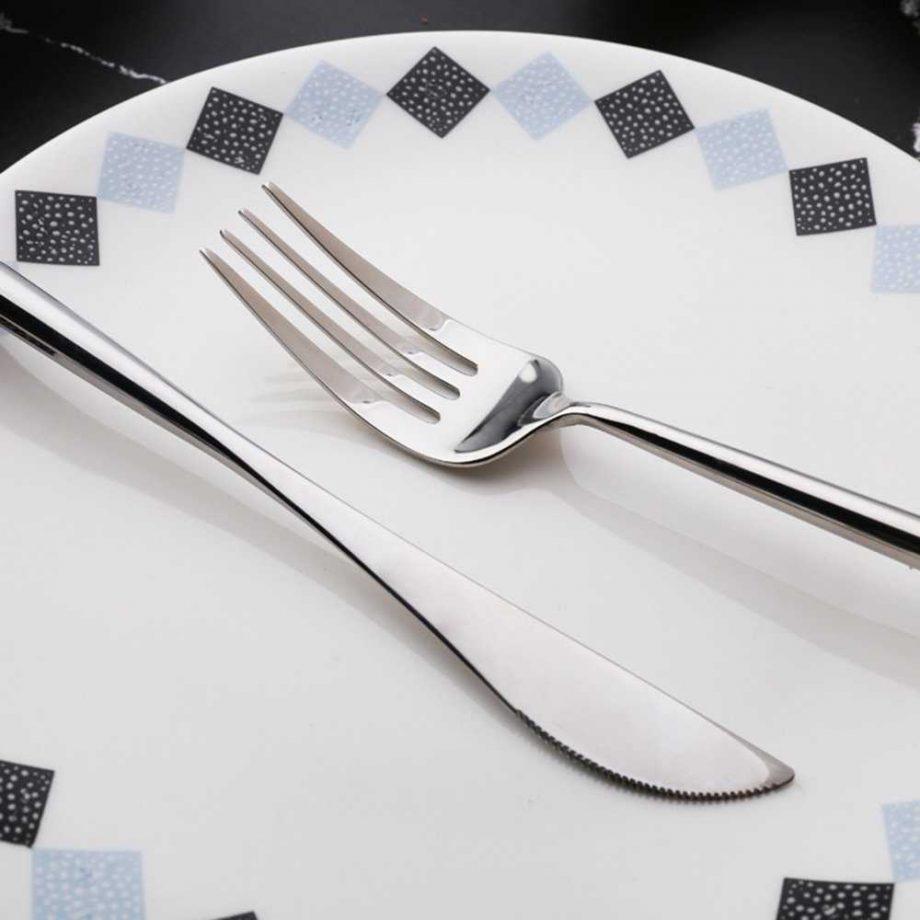 Silver Stainless Steel Tableware 4 pcs Set