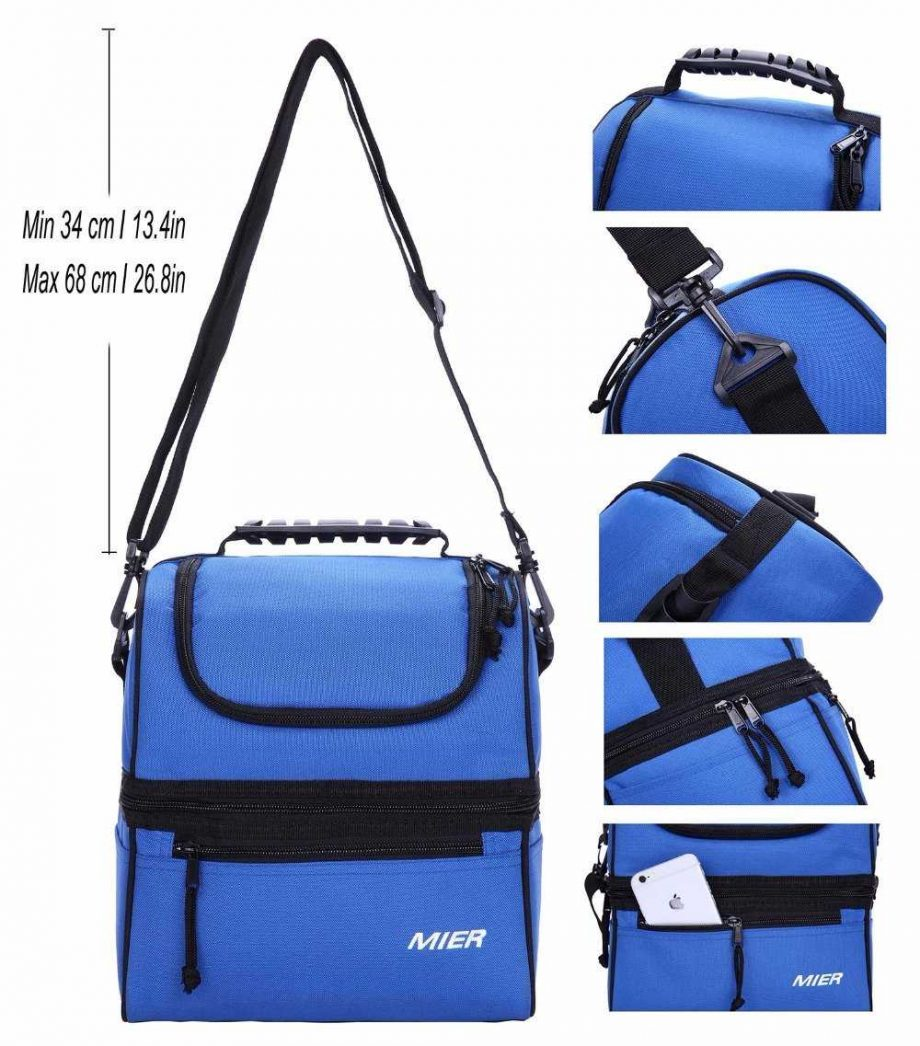 Double Large Insulated Lunch Bag