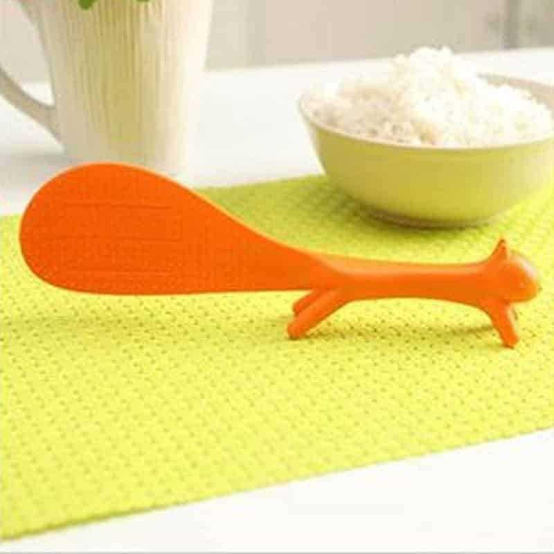 Cute Squirrel Shaped Non-Stick Eco-Friendly Plastic Turner