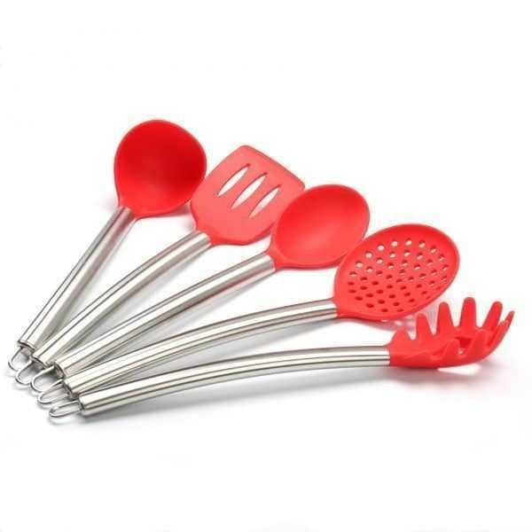 Useful Heat-Resistant Non-Stick Silicone Kitchen Utensils Set