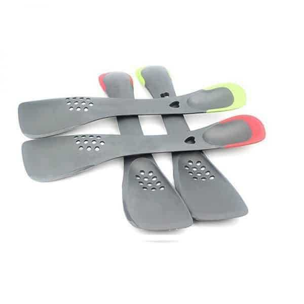 Handy Heat-Resistant Eco-Friendly Silicone Slotted Turner
