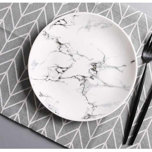 Marble Printed Dinner Plate