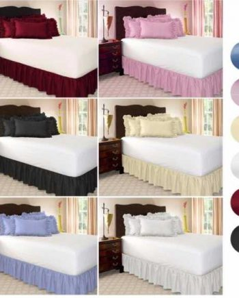 Luxury Brushed Cloth Bed Skirt