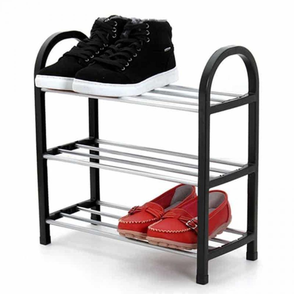 Assembled Plastic Shoes Shelf