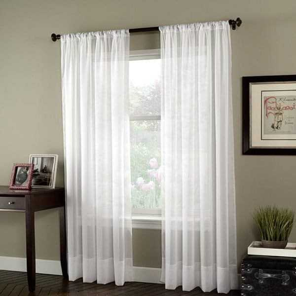 White Tulle Curtains for Bedroom