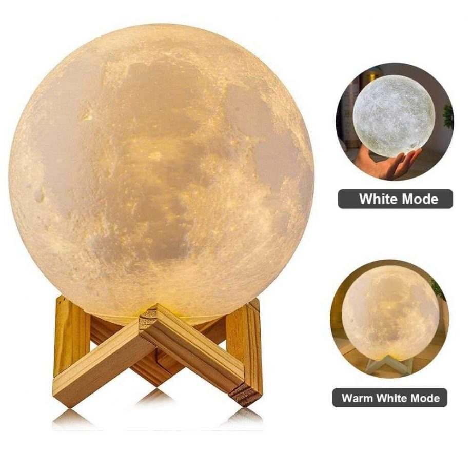 Rechargeable Moon Shaped Lamp