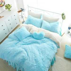 Kid's Cute Fluffy Bedding Set