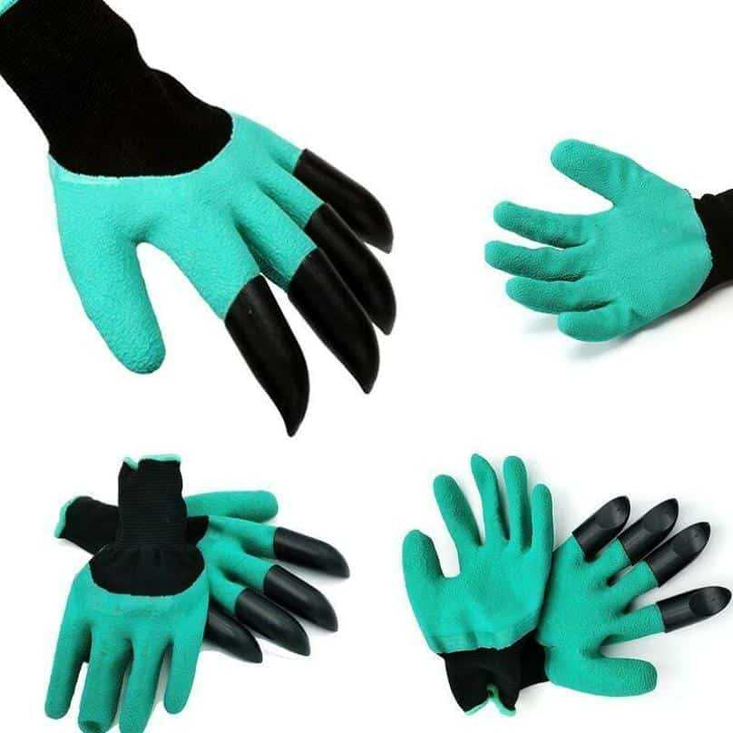 Plastic Claws Garden Gloves