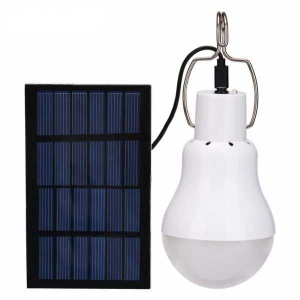 Portable LED Lamp with Solar Panel