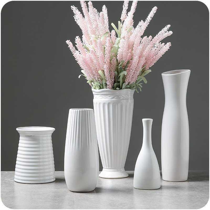 Classic White Ceramic Vase