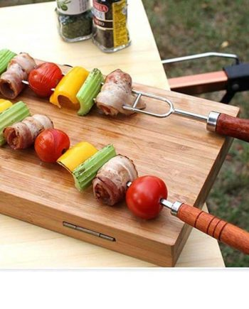 Wood Handle Barbecue Fork With Storage Bag