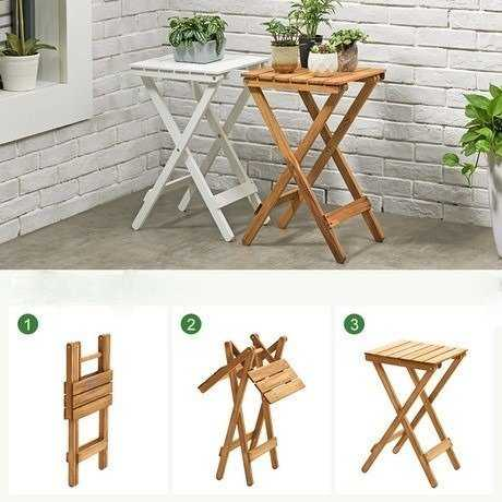Portable Wooden Folding Table
